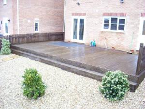 Garden decking timber deck supplies wakefield west yorkshire for Decking at end of garden